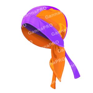 Бандана з мікрофібри двошарова фіолетова