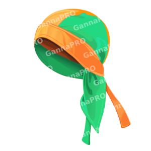 Бандана из микрофибры двухслойная оранжевая